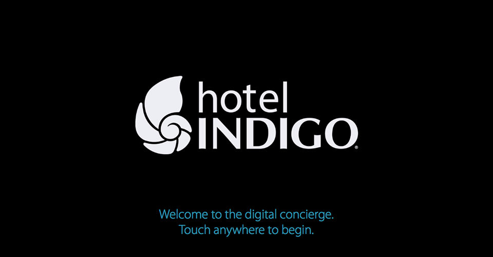 Hotel Indigo Digital Concierge Design