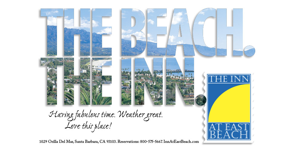 The Inn at East Beach Postcard/Ad. (Sample of hospitality advertising.)